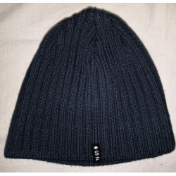 Zimní pánská pletená vlněná čepice modrá