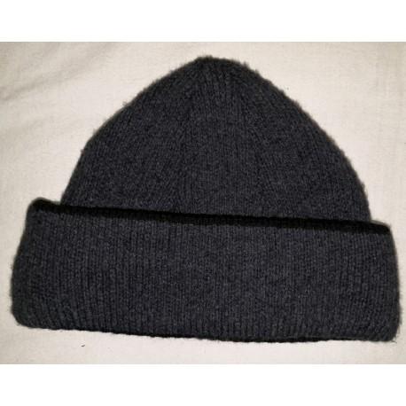 Zimní pánská pletená vlněná čepice šedá