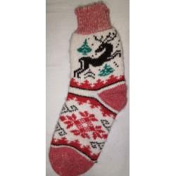 Woolen socks motif dog 6