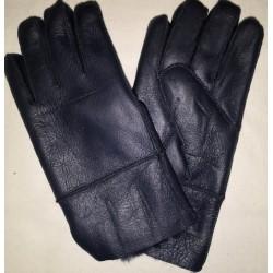 Zimné pánske kožené rukavice hnedé 1