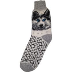 Vlnené ponožky motív pes 6