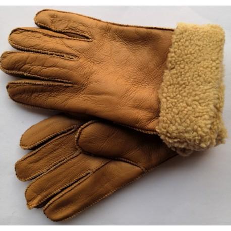 Winter women's leather gloves black 1