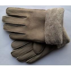 Zimné pánske kožené rukavice hnedé 2