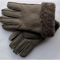 Winter Herren Lederhandschuhe braun 1