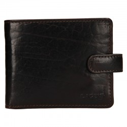 MEN'S LEATHER WALLET E-1036 / T - DARK BROWN - D.BRN