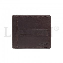 MEN'S LEATHER WALLET LA-10210 - DARK BROWN - D.BRN
