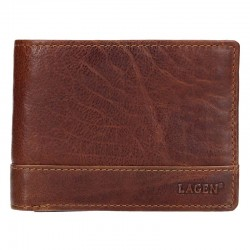 MEN'S LEATHER WALLET LG-6504 / T - BROWN - TAN