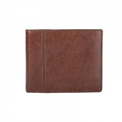 MÄNNER LEDER WALLET PW-521-BROWN - BRN