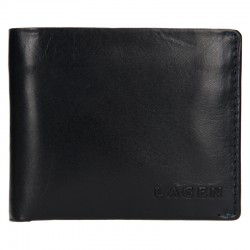 MEN'S LEATHER WALLET TS-508 - BLUE - NAVY
