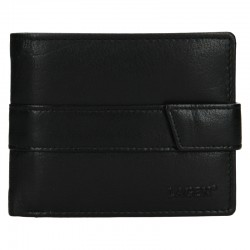 MEN'S LEATHER WALLET V-03-BLACK - BLK