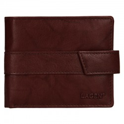 MEN'S LEATHER WALLET V-03-BROWN - BRN