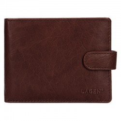 MEN'S LEATHER WALLET V-42-BROWN - BRN