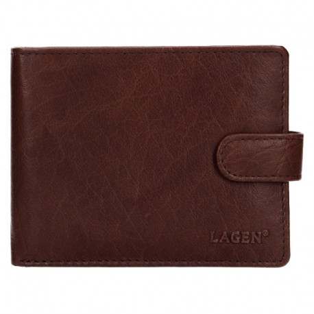 MÄNNER LEDER WALLET V-42-BROWN - BRN
