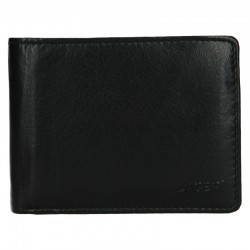 MEN'S LEATHER WALLET V-76-BLACK - BLK