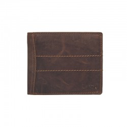 MEN'S LEATHER WALLET V-76 / P-BROWN - BRN