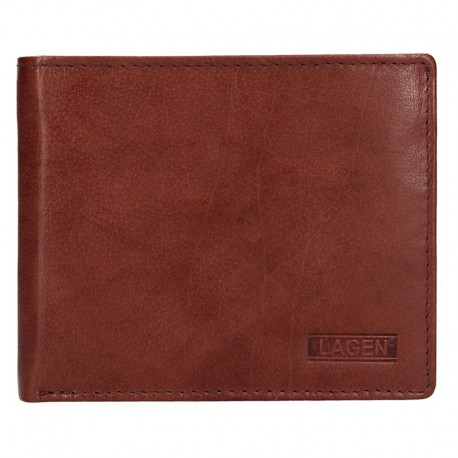 MEN'S LEATHER WALLET W-8154 - BROWN - BRN
