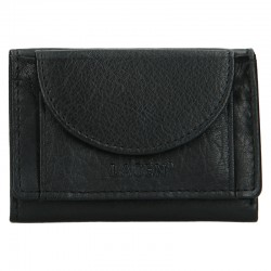 UNISEX LEATHER WALLET W-2030 - BLACK - BLK