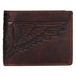 MÄNNER LEDER WALLET 6537 - BROWN - BRN