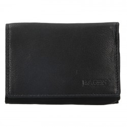 WOMEN'S LEATHER WALLET LM-2520 / E - BLACK - BLK