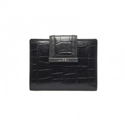 WOMEN'S LEATHER WALLET 61175-BLACK - BLK
