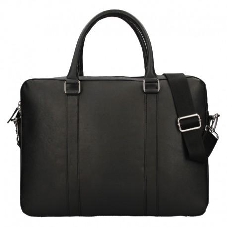 BUSINESS LEATHER BAG 120621- BLACK - BLK
