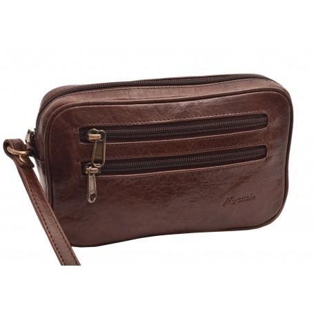 Kožená etue taška tmavěhnědá 260110
