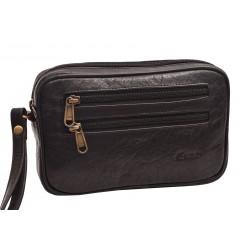 Kožená etue taška černá 260110
