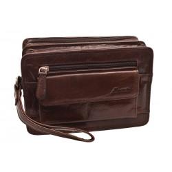 Kožená etue taška tmavohnedá 260111