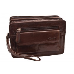Leather case dark brown 260111