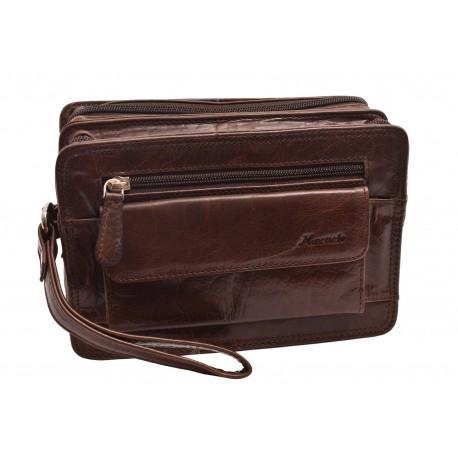 Kožená etue taška tmavěhnědá 260111