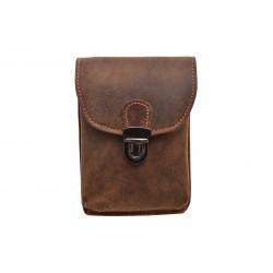 Leather case for belt dark brown hunter 250897