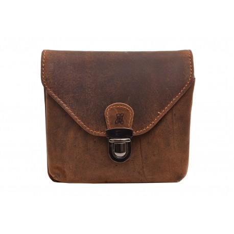 Leather case for belt dark brown hunter 250898