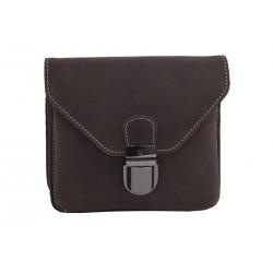 Leather case for belt dark brown hunter 250115