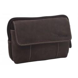Leather case for belt dark brown hunter 250899