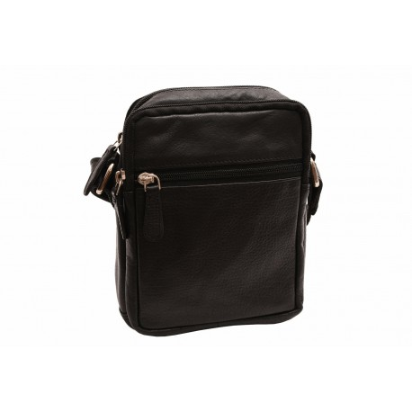 Men's leather crossbody black Z 250588