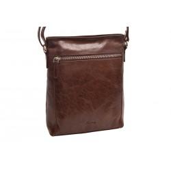 Women's leather crossbody handbag brown 260104