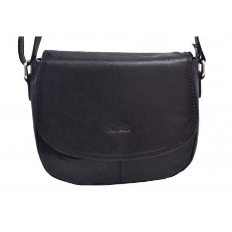 Dámska kožená crossbody kabelka čierna 260105