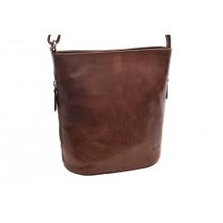 Dámska kožená crossbody kabelka hnedá 260103