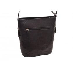 Dámska kožená crossbody kabelka černá 260103