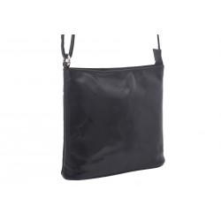 Dámska kožená crossbody kabelka čierna 260112