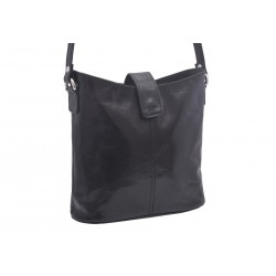 Women's leather crossbody handbag black 260113