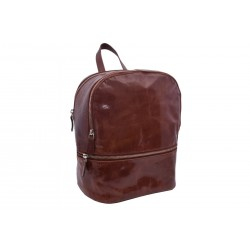 Women's leather backpack cognac 4603