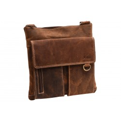 Men's leather crossbody tan hunter 250903