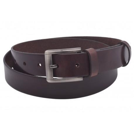 Men's leather belt 741-30-03 brown