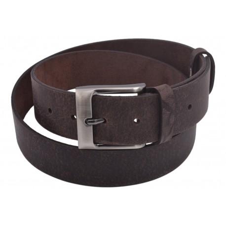 Men's leather belt 736-40-46 dark brown hunter buckle Zoro