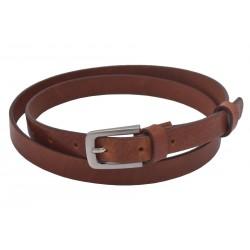 Women's leather belt 722-20-08 cognac buckle Olympia
