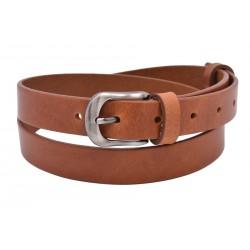 Leather women's belt 720-25-06 cognac buckle Melisa