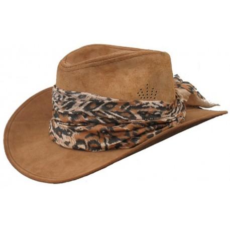 Dámský kožený klobouk 001
