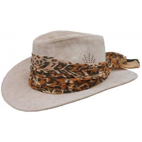Dámsky kožený klobúk 002