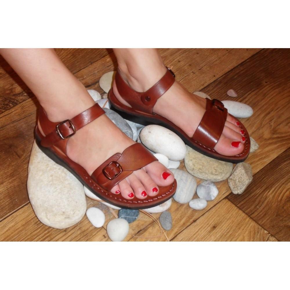 26610a2d167d8c Unisex Ledersandalen Antef - Faraon-sandals.cz
